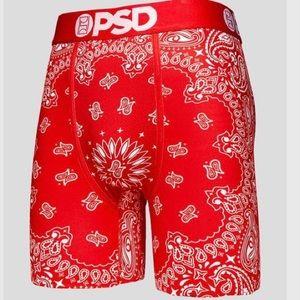 PSD Men's Boxer Brief - Red Bandana - 2XL
